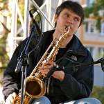 Saksofonista Michał Górczyński
